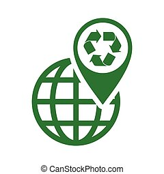 recycle icon green triangle