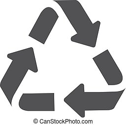 Recycle icon in black on a white background. Vector illustration