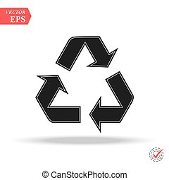 recycle icon in trendy flat style isolated on background. recycle icon page symbol for your web site design recycle icon logo, app,
