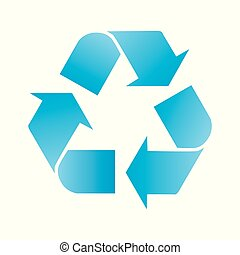 Recycle Icon Isolated on White Background