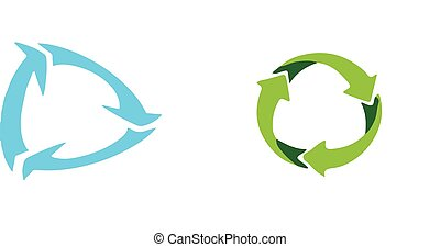 recycle icon on white background