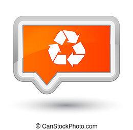 Recycle icon prime orange banner button