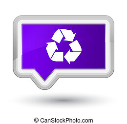 Recycle icon prime purple banner button
