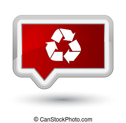 Recycle icon prime red banner button