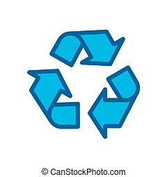 recycle icon vector illustration isolated on white background