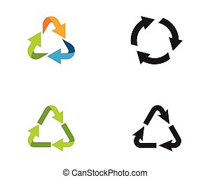 recycle icons vector illustration
