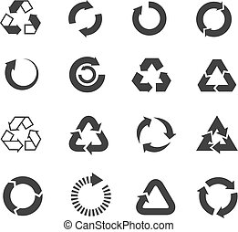 Recycle icons vector set