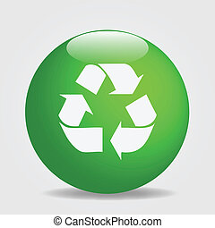 Recycle - Image of a recycle button.