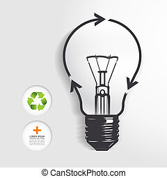 recycle light bulb concept .Vector illustration. / can be used for infographics/ graphic or website layout vector
