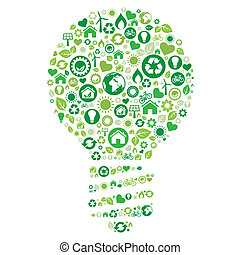recycle light bulb environment icon