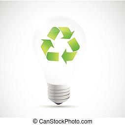 recycle light bulb illustration