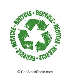 recycle logo grunge vector