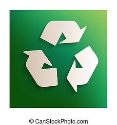 Recycle logo sign
