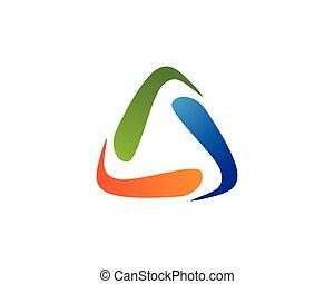 Recycle logo template vector