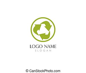 Recycle logo template vector illustration