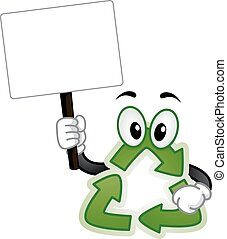 Recycle Mascot Board Illustration