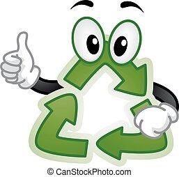 Recycle Mascot Illustration
