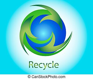 Recycle nature icons