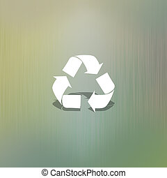Recycle of paper cut on abstract background