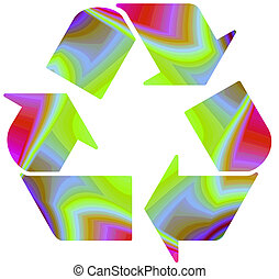 Recycle on funky bg
