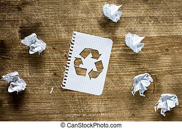 Recycle paper concept