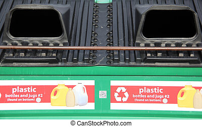 Recycle plastic bins.