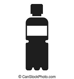 Recycle plastic bottle icon, simple style