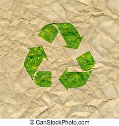 Recycle Poster With Cardboard Background