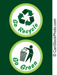 Recycle & Recycling Sign Set