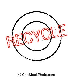 Recycle rubber stamp