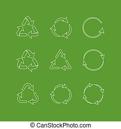 Recycle set icons