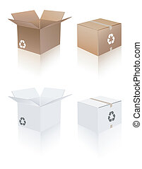 Recycle shipping box