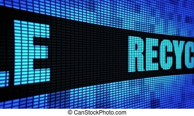 Recycle Side Text Scrolling LED Wall Pannel Display Sign...