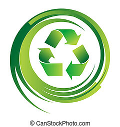 Recycle sign illustration