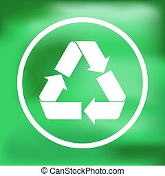 Recycle sign green color