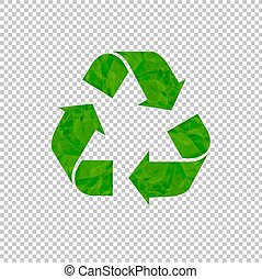Recycle Sign Isolated transparent Background