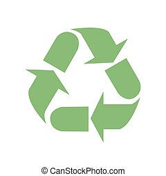 Recycle sign. Vector illustration.