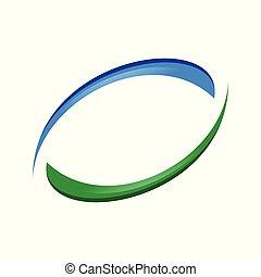 Recycle Swoosh Balance Blue Green Symbol Design