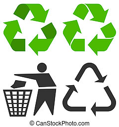 Recycle Symbol - Environment recycling symbols isolated on...