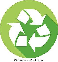 recycle symbol flat icon