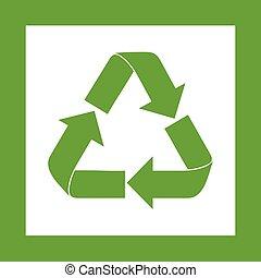 Recycle Symbol Green Logo Web Icon