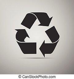 Recycle symbol icon.