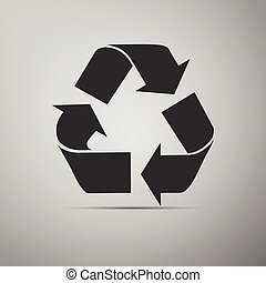 Recycle symbol icon.