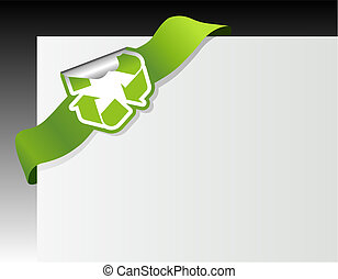 Recycle symbol in the corner