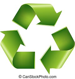 Recycle Symbol, Isolated On White Background, Vector ...