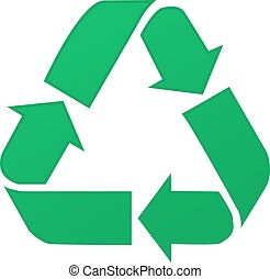 Recycle Symbol, Isolated On White Background, Vector Illustration eps10