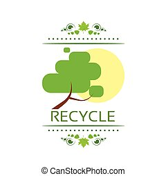 recycle symbol logo icon polygon triangle style