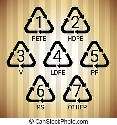 Recycle Symbol Logo Set Web Icon