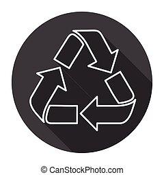 Recycle Symbol Logo Web Icon