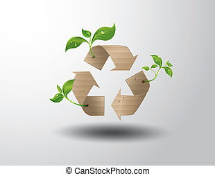 Recycle symbol or sign of conservation .